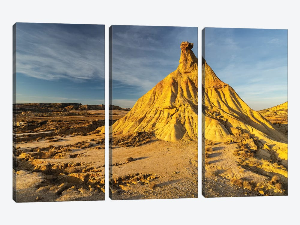 Europe, Spain, Bardenas Reales, Castil De Tierra I by Mikolaj Gospodarek 3-piece Canvas Art