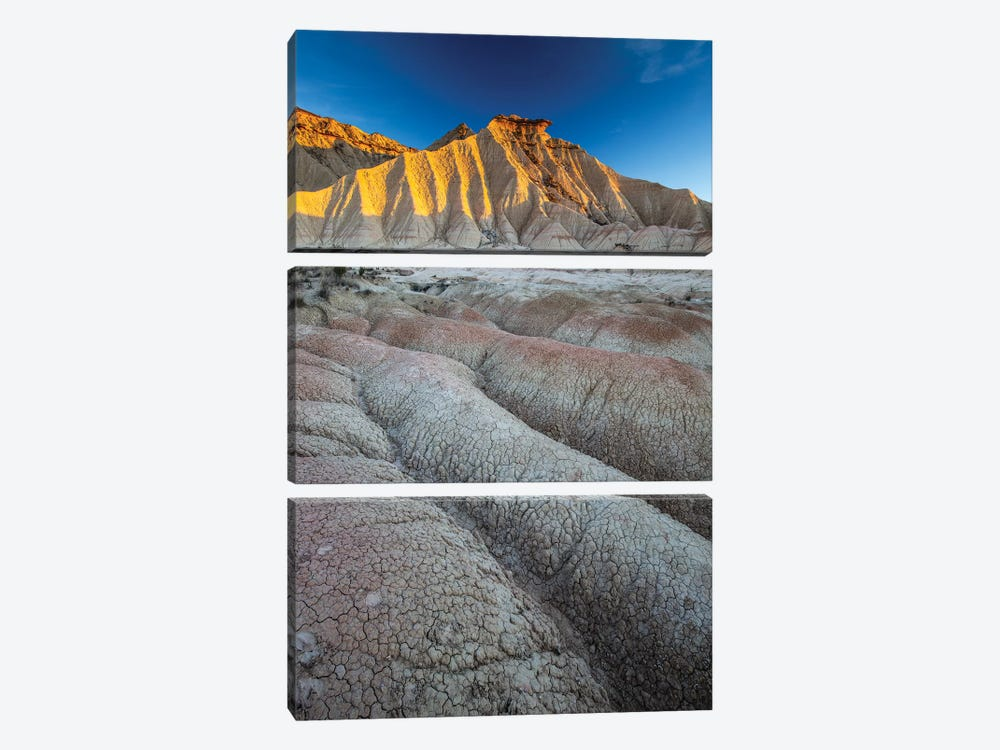 Europe, Spain, Bardenas Reales, Pisquerra I by Mikolaj Gospodarek 3-piece Canvas Art Print