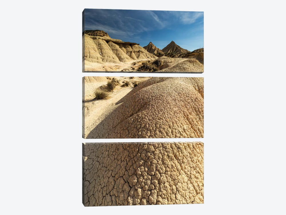 Europe, Spain, Bardenas Reales, Pisquerra IV by Mikolaj Gospodarek 3-piece Canvas Print