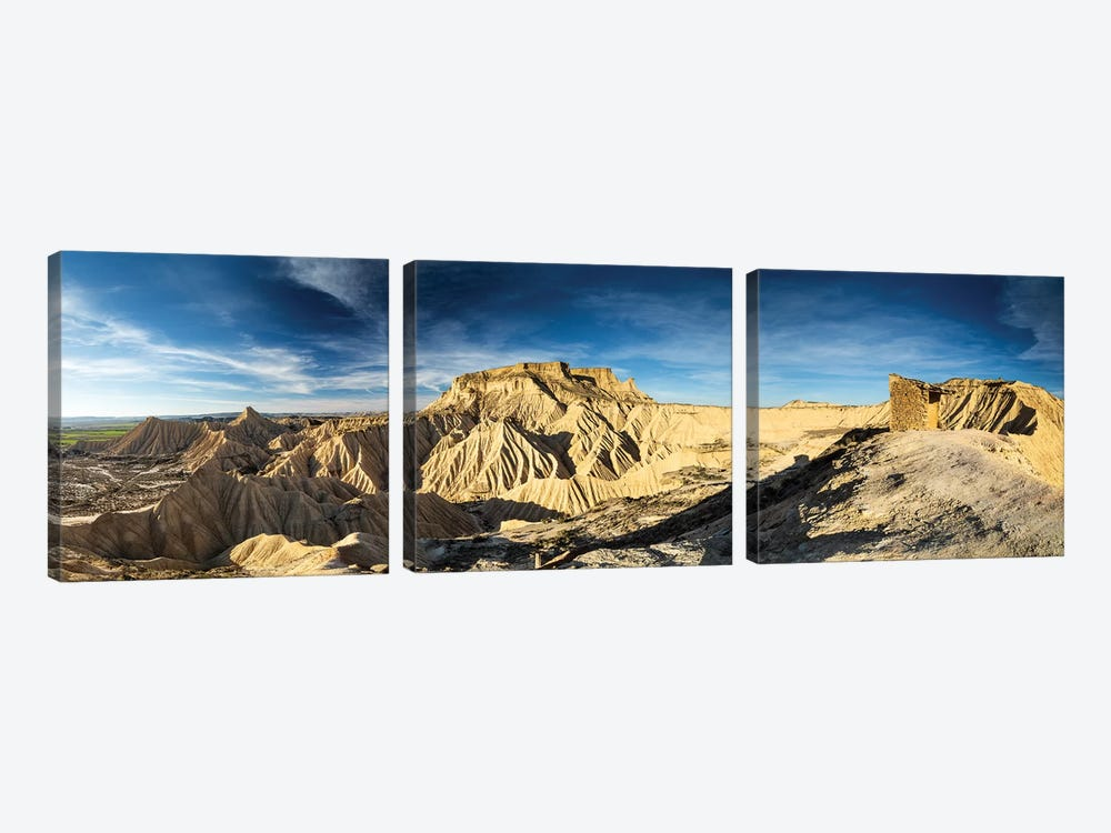 Europe, Spain, Bardenas Reales, Pisquerra VII 3-piece Canvas Art
