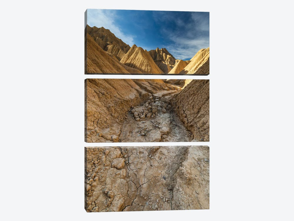 Europe, Spain, Bardenas Reales, Pisquerra X 3-piece Canvas Print