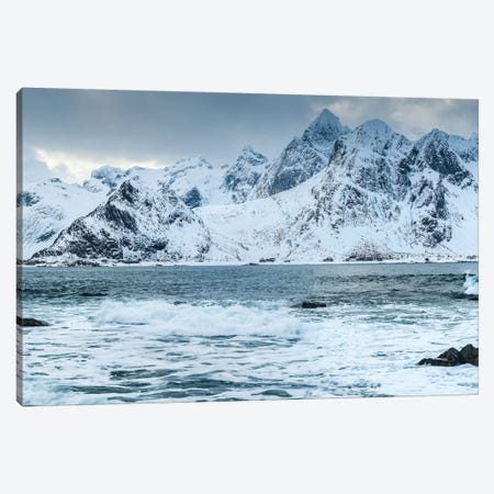 Norway, Nordland, Lofoten, Vareid, Flakstadoy, Winter Lofoten Canvas Print #LAJ302} by Mikolaj Gospodarek Canvas Art Print