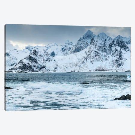 Norway, Nordland, Lofoten, Vareid, Flakstadoy, Winter Lofoten Canvas Print #LAJ302} by Mikolaj Gospodarek Canvas Art Print