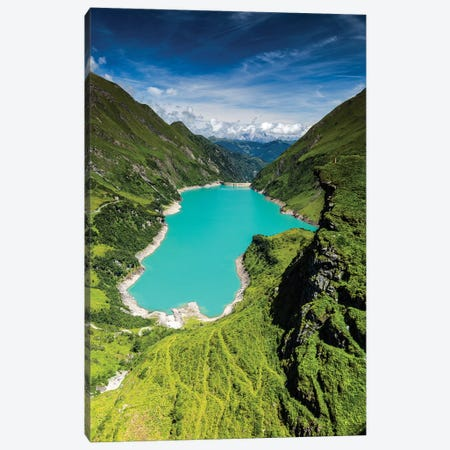 Austria, Alps, Kaprun, Stausee Mooserboden Canvas Print #LAJ304} by Mikolaj Gospodarek Canvas Wall Art