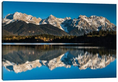 Germany, Alps, Bavaria, Barmsee Canvas Art Print