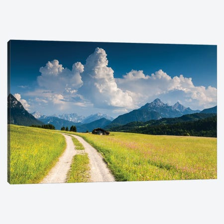 Germany, Alps, Bavaria, Buckelwiesen bei Mittenwald Canvas Print #LAJ319} by Mikolaj Gospodarek Canvas Artwork