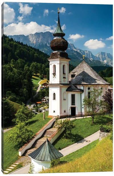 Germany, Alps, Bavaria, Maria Gern church, Berchtesgaden Canvas Art Print