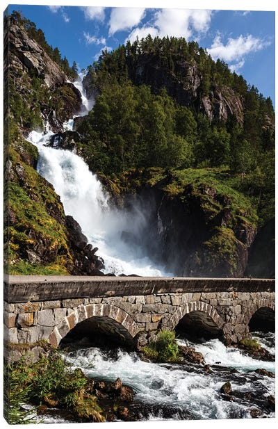 Norway, Latefossen I Canvas Art Print