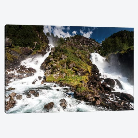 Norway, Latefossen II Canvas Print #LAJ332} by Mikolaj Gospodarek Canvas Art