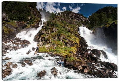 Norway, Latefossen II Canvas Art Print