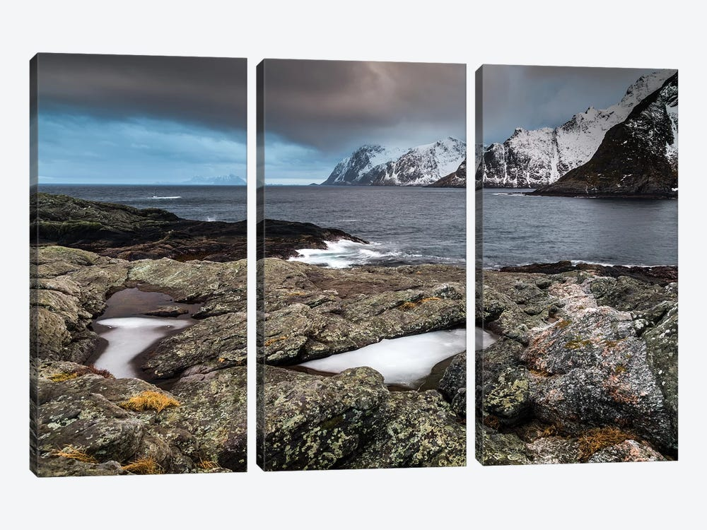 Norway, Lofoten, Å, Moskenes II by Mikolaj Gospodarek 3-piece Canvas Art