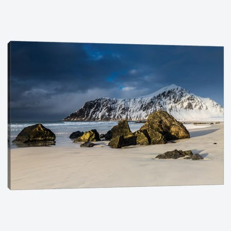 Norway, Lofoten, Flakstad I Canvas Print #LAJ335} by Mikolaj Gospodarek Canvas Art Print