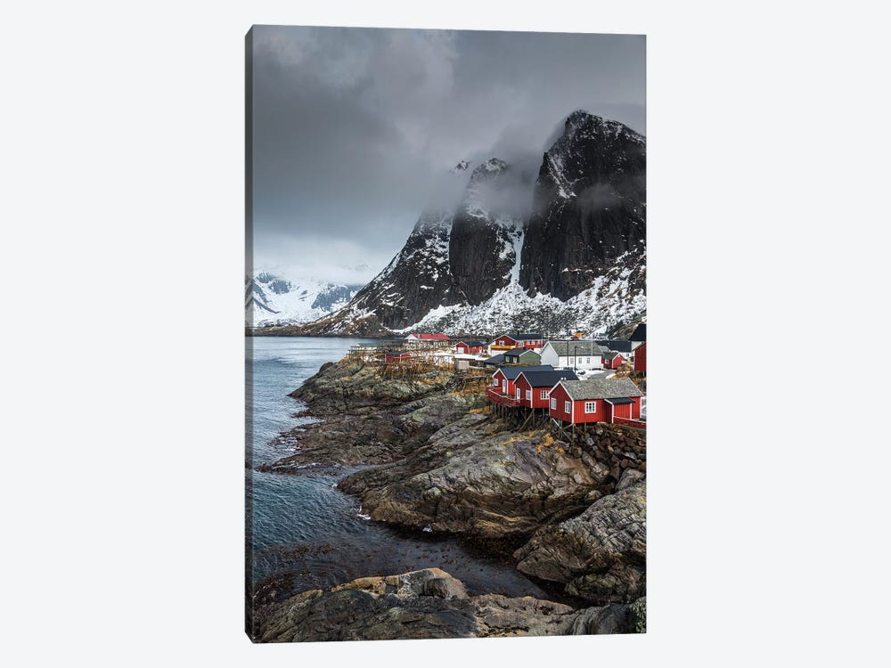 Norway, Lofoten, Hamnoy 1-piece Canvas Art Print