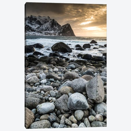 Norway, Lofoten, Unstad I Canvas Print #LAJ341} by Mikolaj Gospodarek Art Print