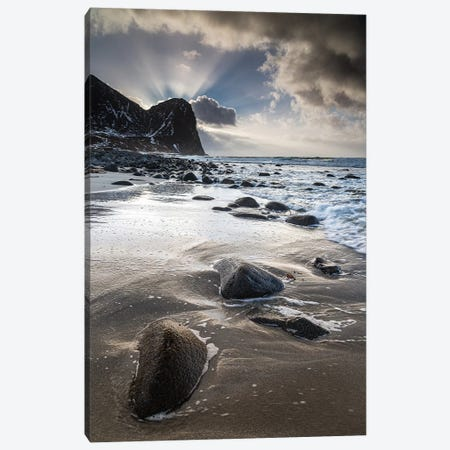 Norway, Lofoten, Unstad II Canvas Print #LAJ342} by Mikolaj Gospodarek Canvas Art Print