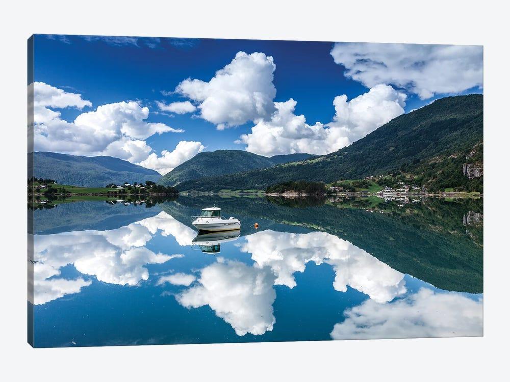Norway, Lustrafjorden by Mikolaj Gospodarek 1-piece Canvas Print
