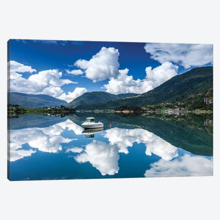 Norway, Lustrafjorden Canvas Print #LAJ346} by Mikolaj Gospodarek Canvas Artwork