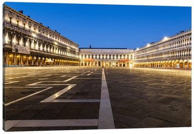 Italy, Venice, Piazza San Marco (St Mark's Square) Canvas Art Print