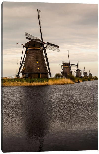 Netherlands, Kinderdijk, Windmills Canvas Art Print