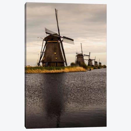 Netherlands, Kinderdijk, Windmills Canvas Print #LAJ37} by Mikolaj Gospodarek Canvas Print