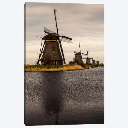 Netherlands, Kinderdijk, Windmills Canvas Print #LAJ37} by Mikolaj Gospodarek Canvas Print