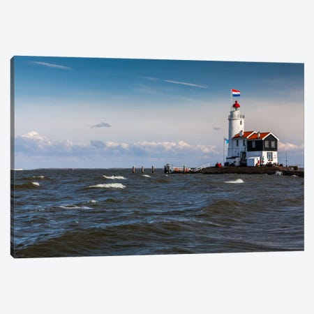Netherlands, Marken, Paard van Marken (Horse Of Marken) Lighthouse Canvas Print #LAJ39} by Mikolaj Gospodarek Canvas Artwork