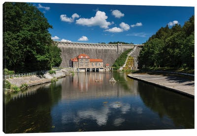 Poland, Pilchowice Water Dam Canvas Art Print