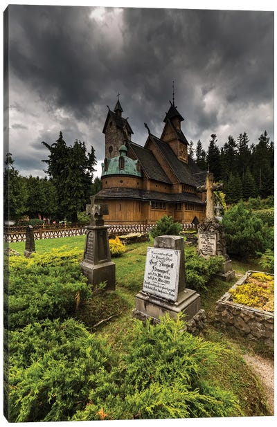 Poland, Karpacz, Vang Stave Church Canvas Art Print