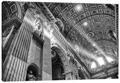 Italy, Rome, St. Peter's Basilica Canvas Art Print