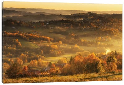 Autumn - Beskid Mountains - Poland Canvas Art Print
