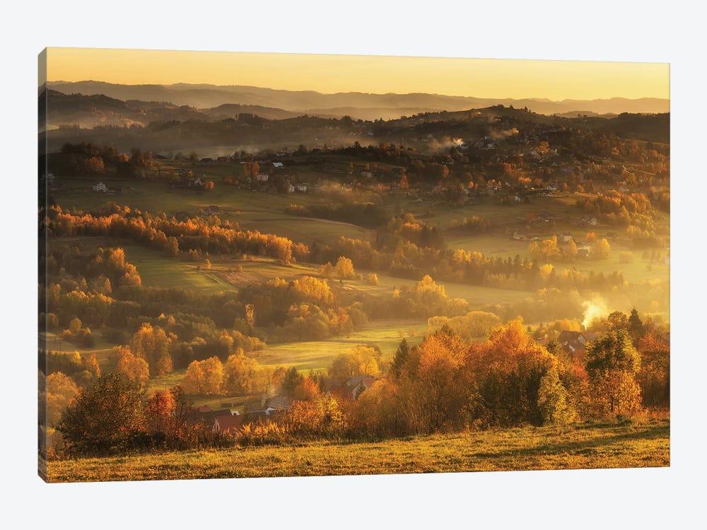 Autumn - Beskid Mountains - Poland by Mikolaj Gospodarek 1-piece Canvas Art Print