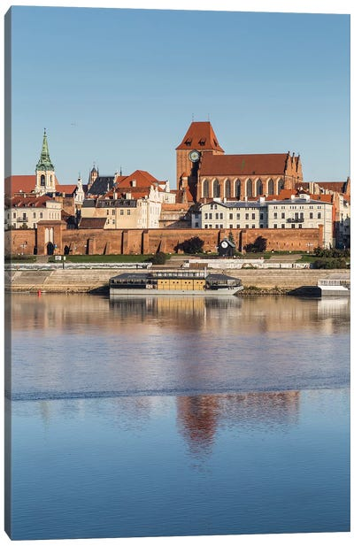 Torun, Vistula, Old Town, Poland Canvas Art Print