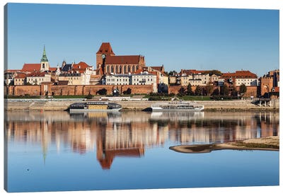 Torun, Vistula, City Landscape, Poland Canvas Art Print