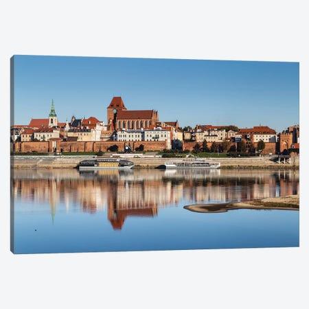 Torun, Vistula, City Landscape, Poland Canvas Print #LAJ451} by Mikolaj Gospodarek Canvas Art Print
