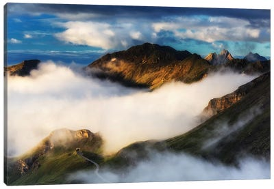 Grossglockner High Alpine Road. Alps. Austria Canvas Art Print