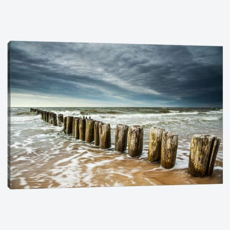 Poland, Baltic Sea, Dziwnow, Sunset I Canvas Print #LAJ45} by Mikolaj Gospodarek Canvas Wall Art