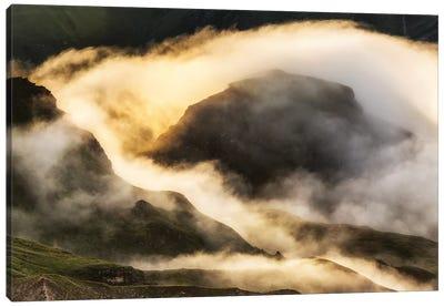 Magic Sunrise. Alps. Austria Canvas Art Print