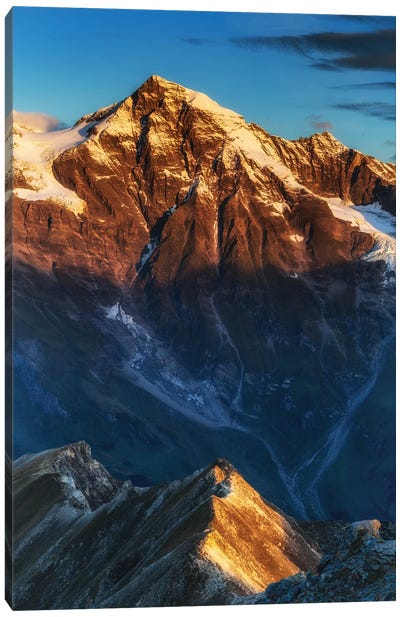 Sunrise. Alps. Austria Canvas Art Print