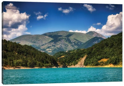 French Alps, Lac Du Sautet Canvas Art Print