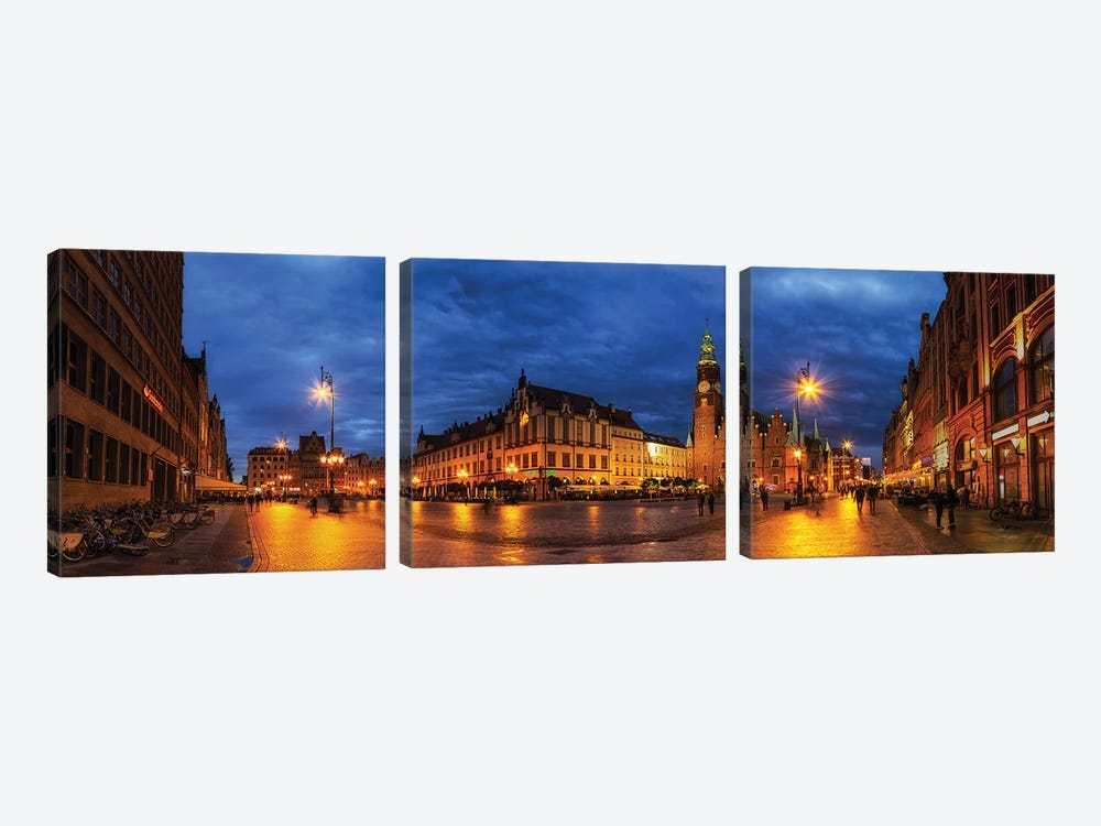 Wroclaw, Poland - Old Town 3-piece Canvas Print