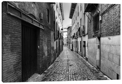 Street In Tudela In Spain Canvas Art Print