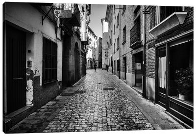 Street In Tudela, Spain Canvas Art Print
