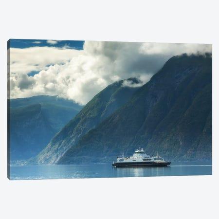 Ferry In Norway Canvas Print #LAJ491} by Mikolaj Gospodarek Canvas Art Print