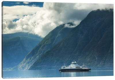 Ferry In Norway Canvas Art Print