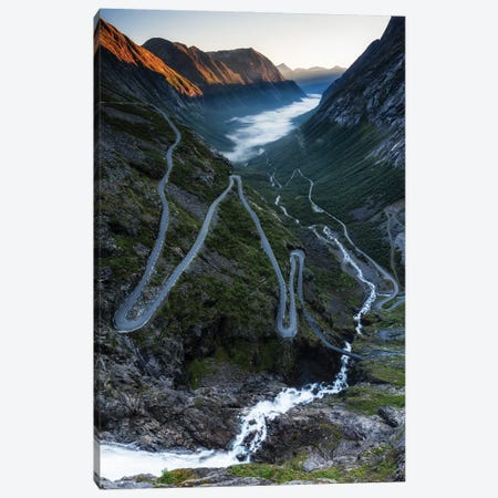 Serpentine Mountain Road Trollstigen, Norway Canvas Print #LAJ495} by Mikolaj Gospodarek Canvas Art