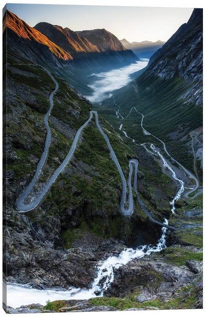 Serpentine Mountain Road Trollstigen, Norway Canvas Art Print