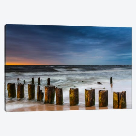 Poland, Baltic Sea, Dziwnow, Sunset V Canvas Print #LAJ49} by Mikolaj Gospodarek Canvas Art Print