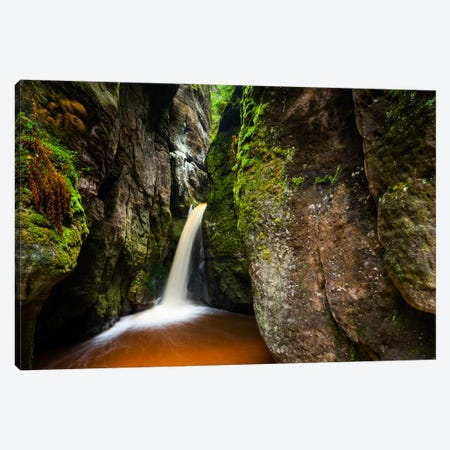 Czech Republic, Adršpach-Teplice Rocks, Waterfall Canvas Print #LAJ4} by Mikolaj Gospodarek Art Print