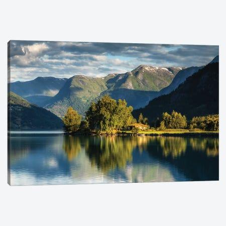 Hjelle, Oppstrynsvatnet Lake, Norway Canvas Print #LAJ500} by Mikolaj Gospodarek Art Print