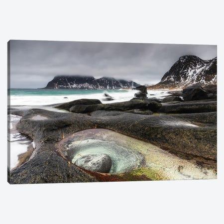 Uttakleiv Beach, Lofoten In Norway Canvas Print #LAJ505} by Mikolaj Gospodarek Canvas Art